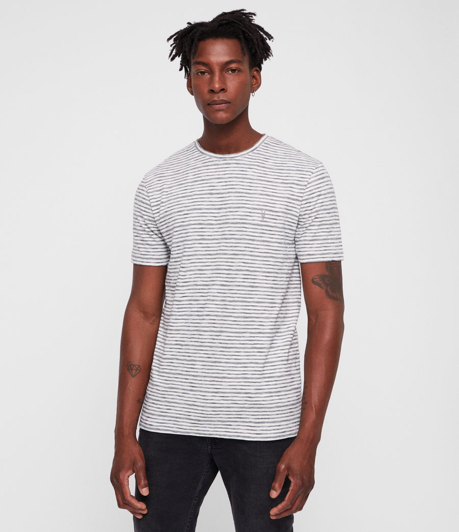 Mens Tonic San Crew T-Shirt (chalk_white_black) - Image 1