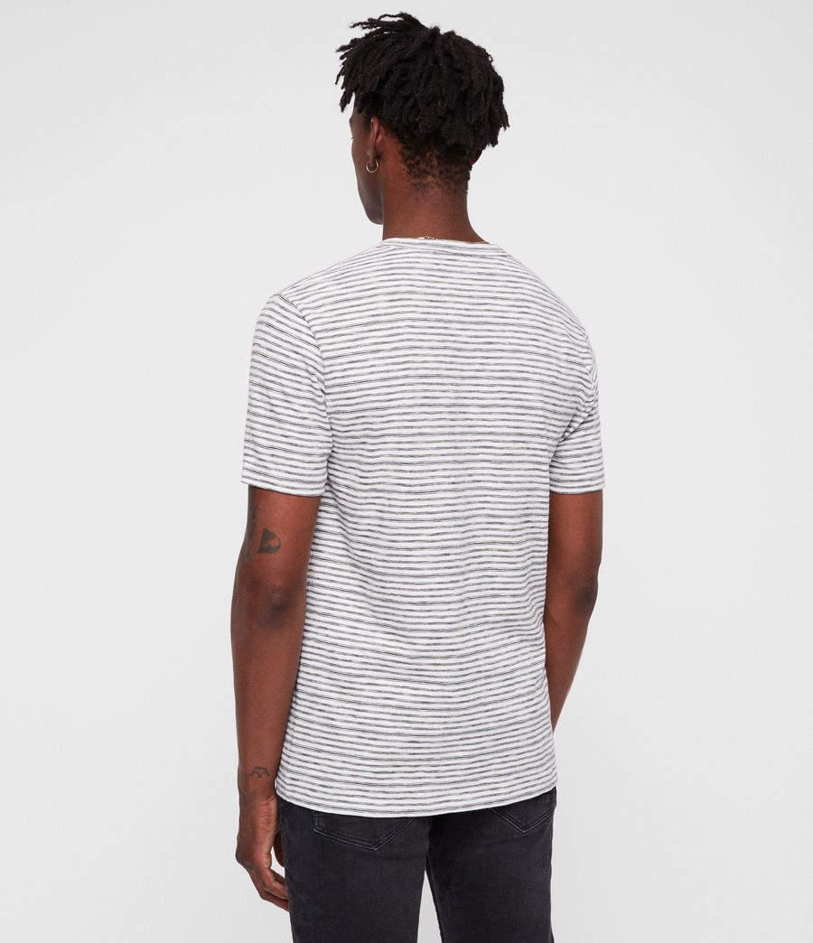 Mens Tonic San Crew T-Shirt (chalk_white_black) - Image 4
