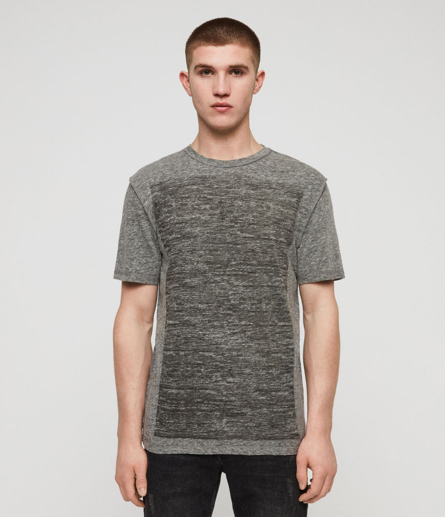 Men's Cadfer Mouline Crew T-Shirt (grey_mouline_black) - Image 1
