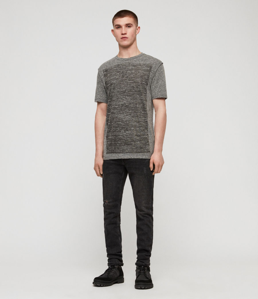 Men's Cadfer Mouline Crew T-Shirt (grey_mouline_black) - Image 3