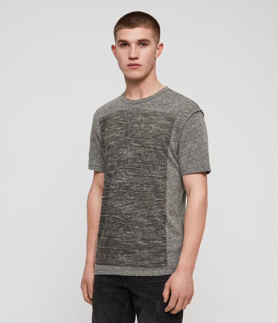 Men's Cadfer Mouline Crew T-Shirt (grey_mouline_black) - Image 4