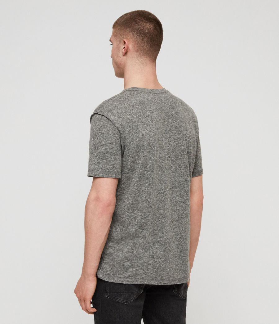 Men's Cadfer Mouline Crew T-Shirt (grey_mouline_black) - Image 5