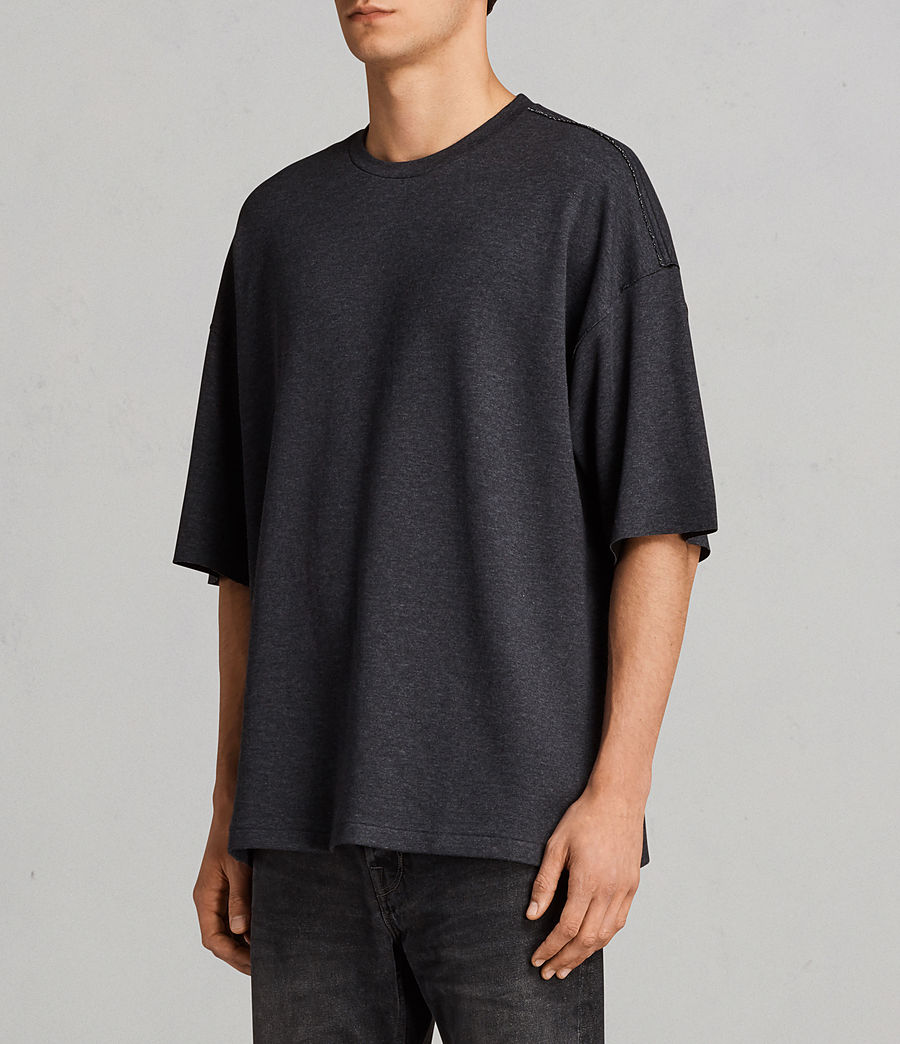 Men's Torny Short Sleeve Crew Sweatshirt (cinder_marl_black) - Image 2