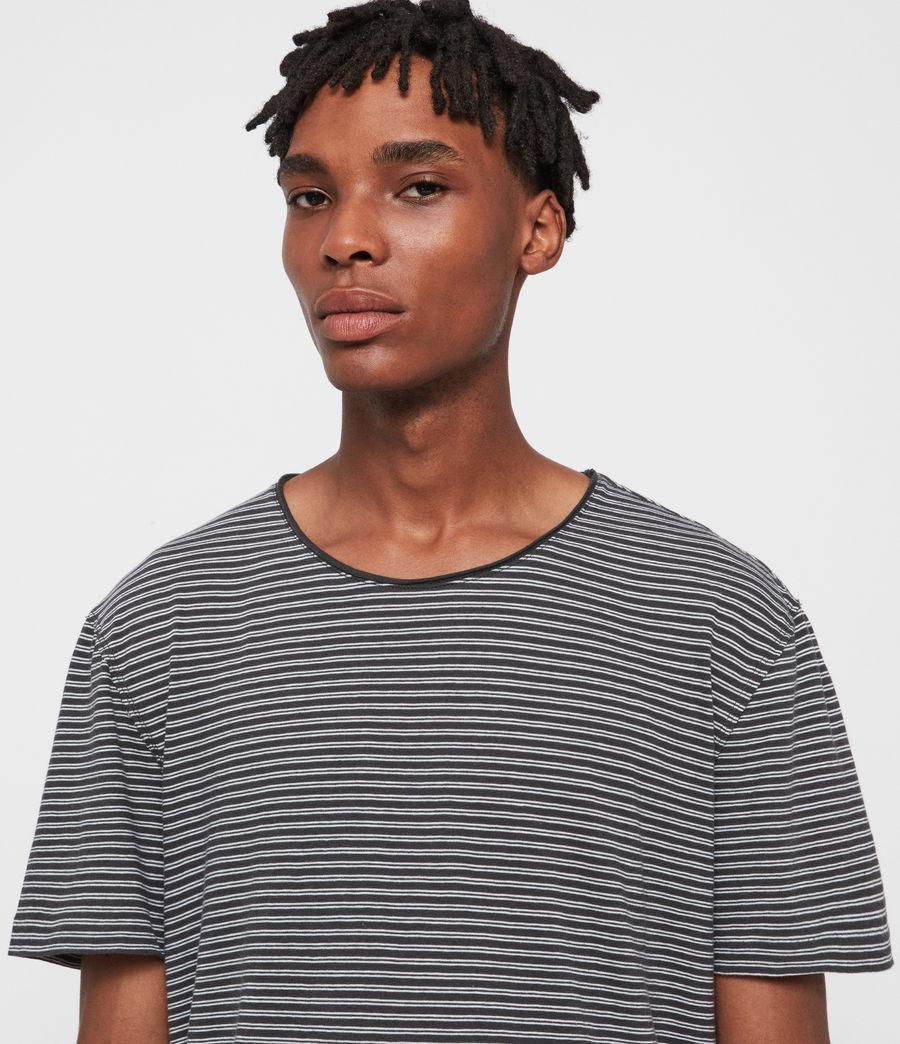 Hommes T-Shirt Rayé à Manches Courtes Elliot (black_white) - Image 2