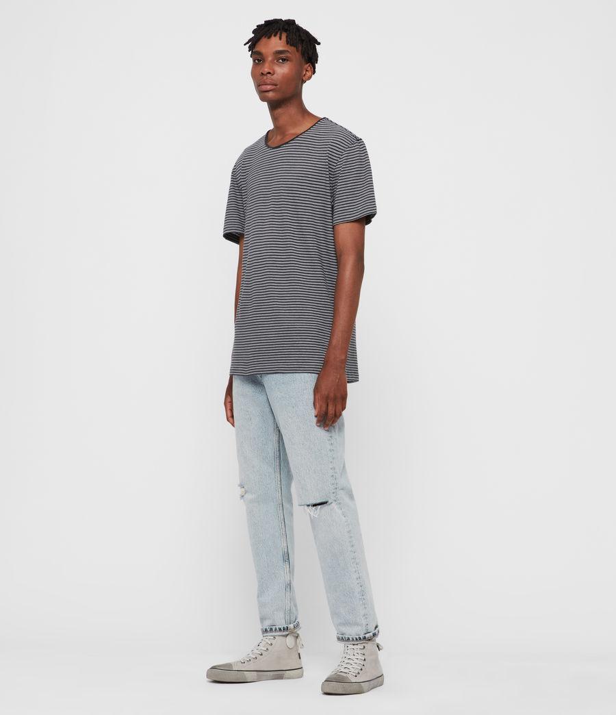 Hommes T-Shirt Rayé à Manches Courtes Elliot (black_white) - Image 3