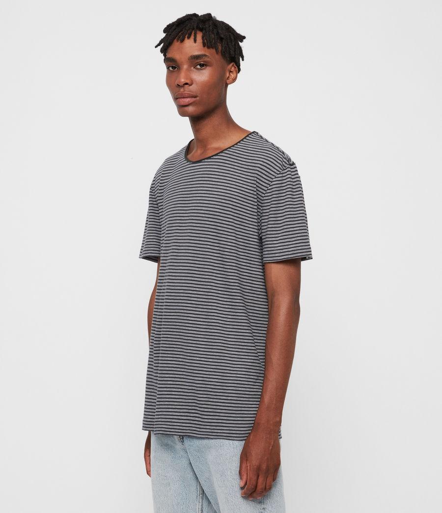 Hommes T-Shirt Rayé à Manches Courtes Elliot (black_white) - Image 4