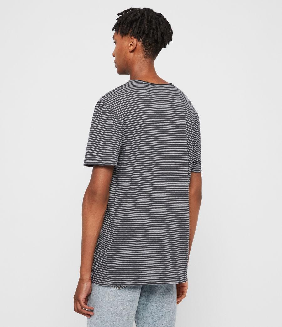 Hommes T-Shirt Rayé à Manches Courtes Elliot (black_white) - Image 5