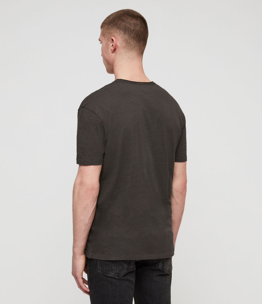 Mens Figma Crew T-Shirt (washed_black) - Image 4