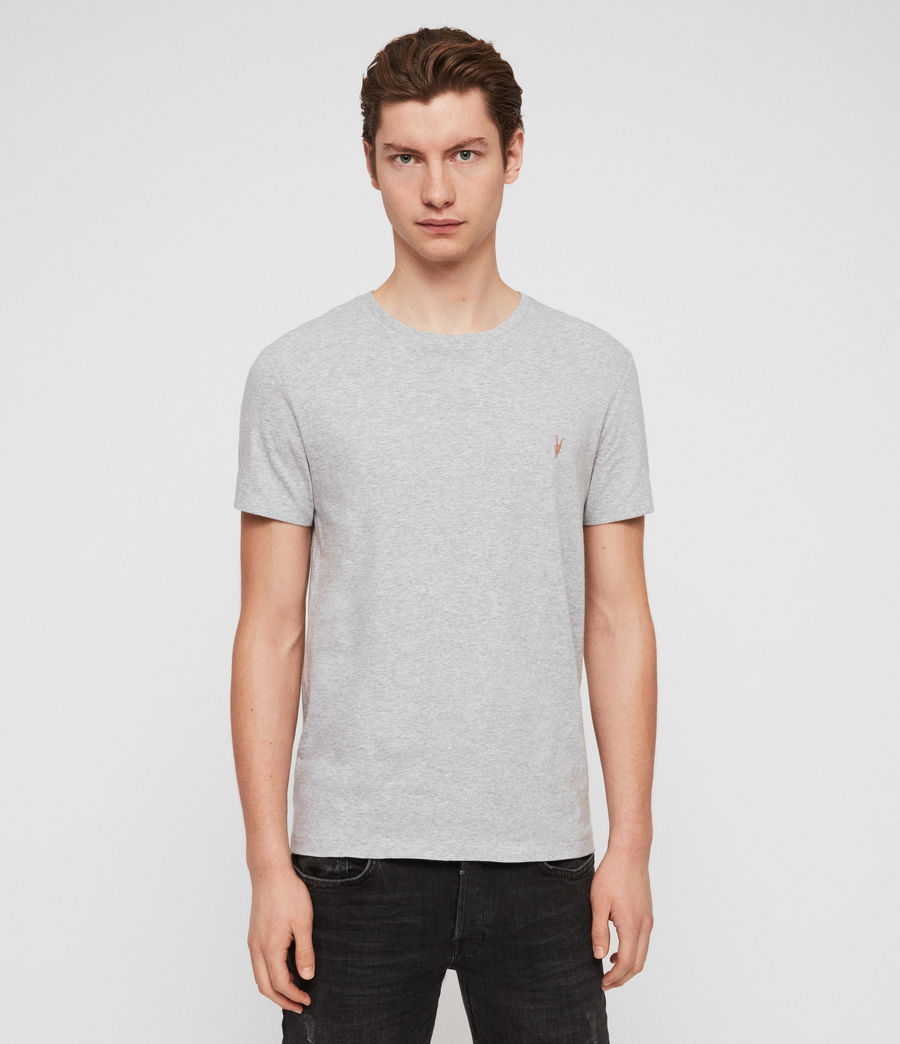 Men's Cooper Crew T-Shirt (grey_marl) - Image 1