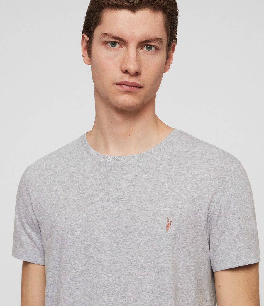 Men's Cooper Crew T-Shirt (grey_marl) - Image 2