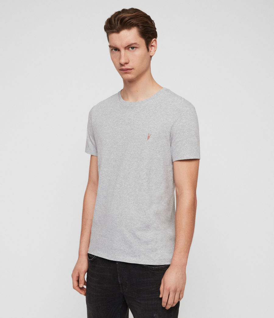 Men's Cooper Crew T-Shirt (grey_marl) - Image 3