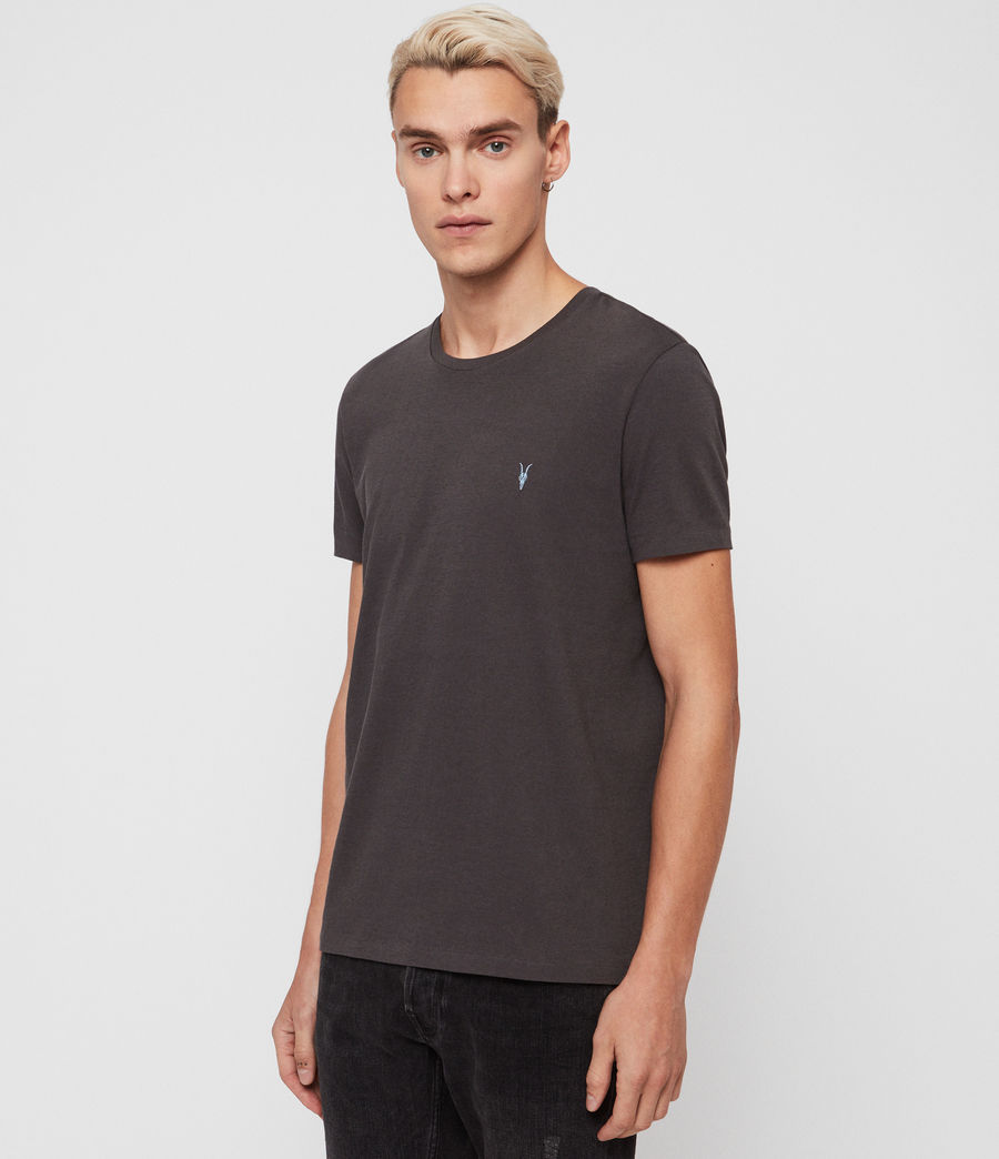 Mens Cooper Crew T-Shirt (washed_black) - Image 1