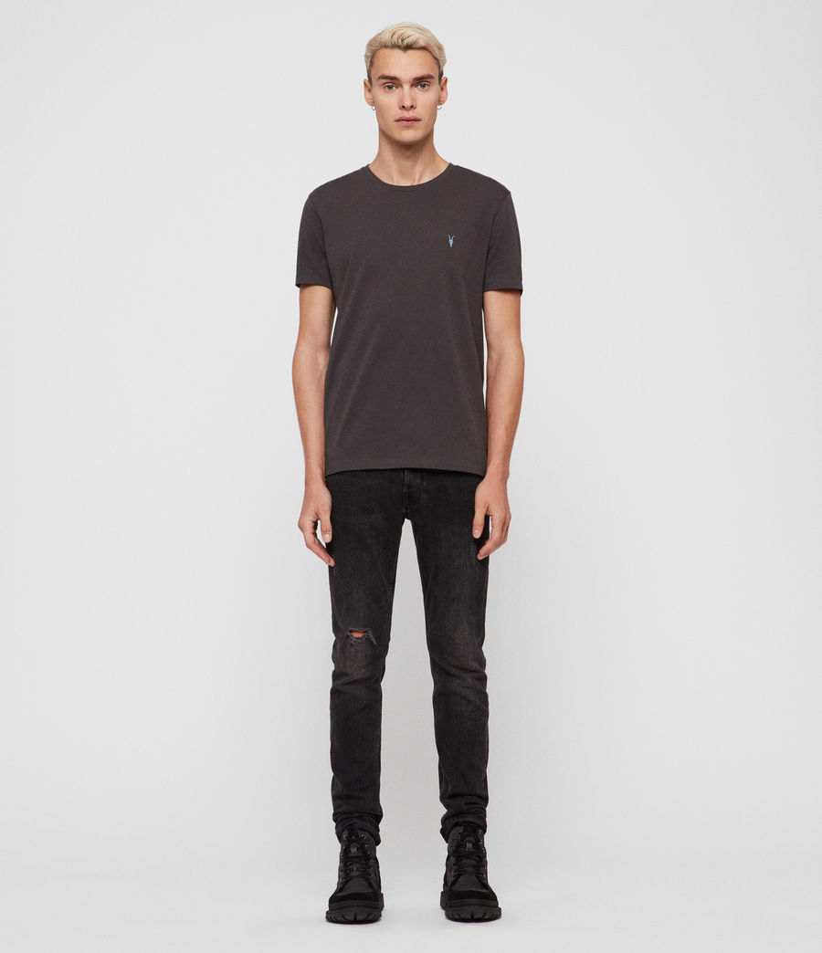 Mens Cooper Crew T-Shirt (washed_black) - Image 3