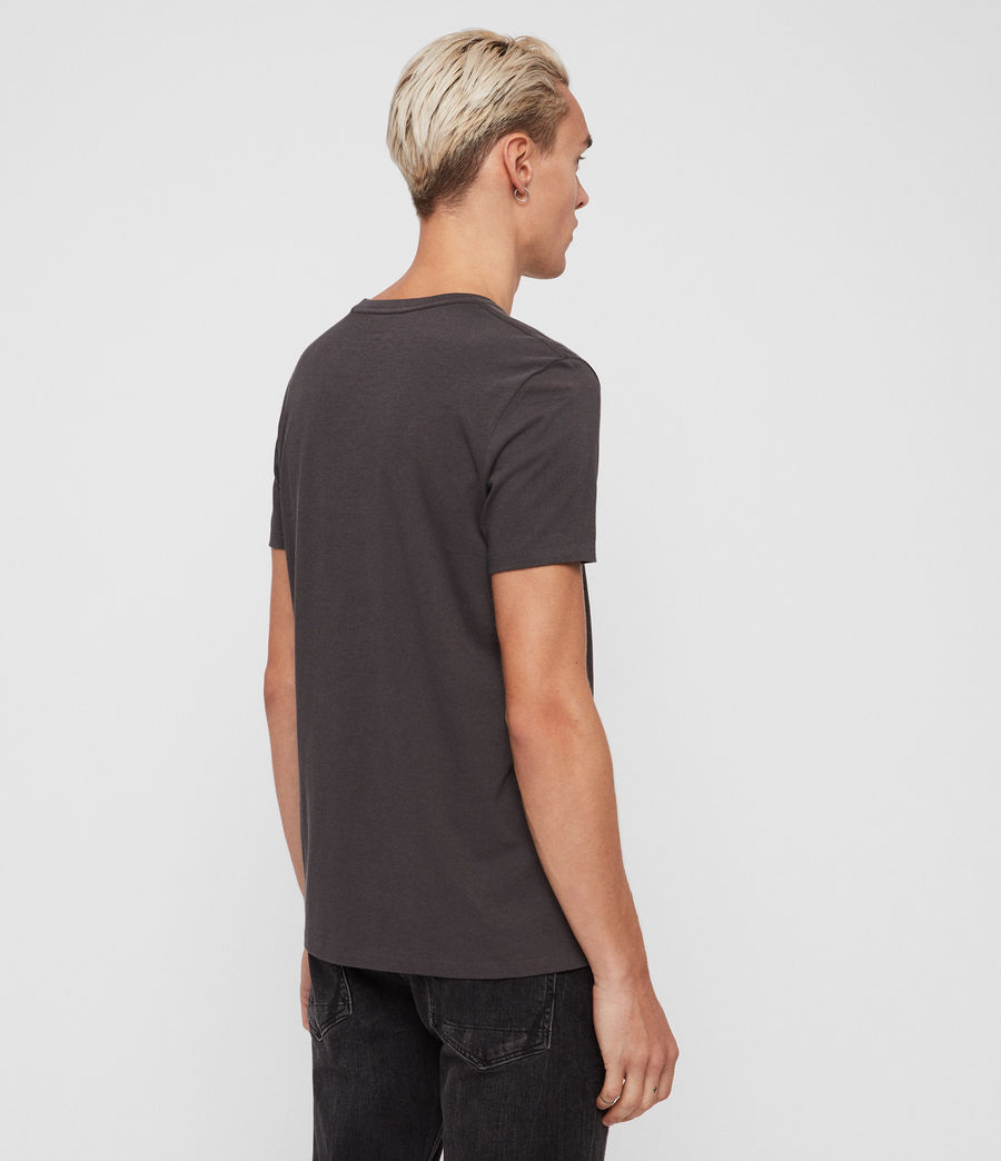 Mens Cooper Crew T-Shirt (washed_black) - Image 4
