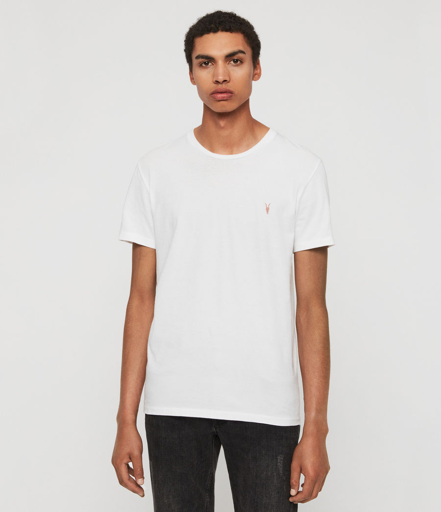 Mens Cooper Crew T-Shirt (optic_white) - Image 1