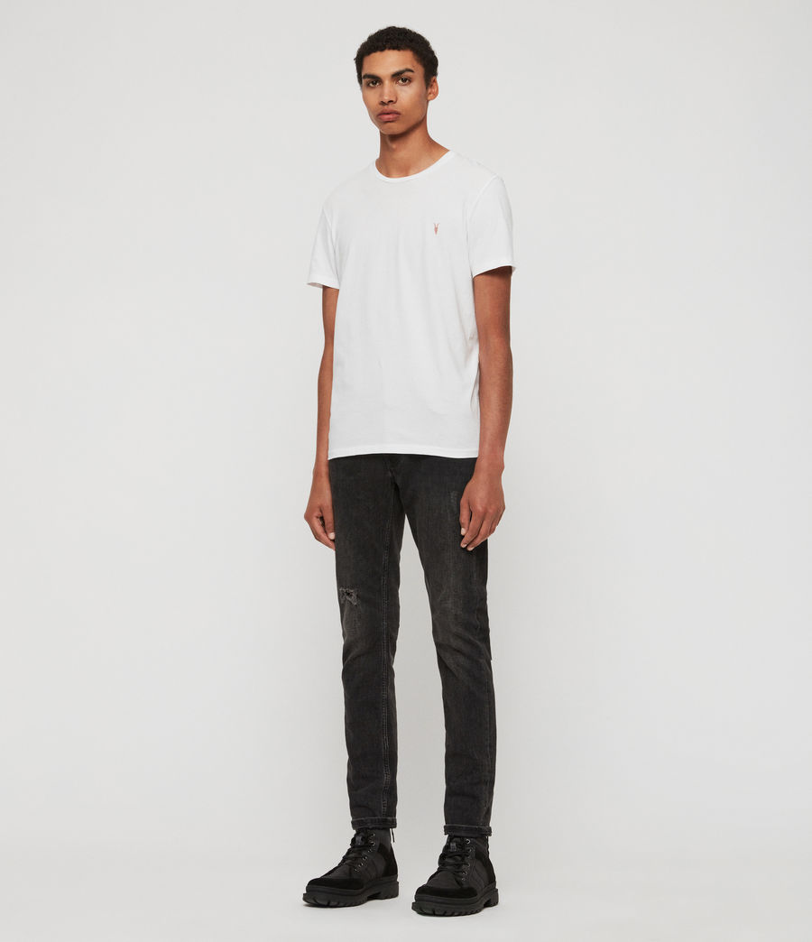 Uomo T-shirt Cooper - Slim in cotone con logo (washed_black) - Image 3