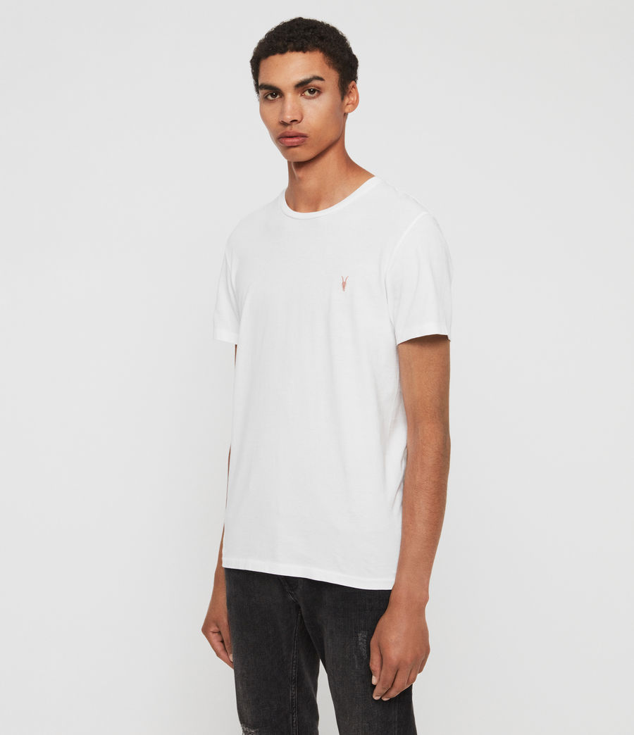 Mens Cooper Crew T-Shirt (optic_white) - Image 4