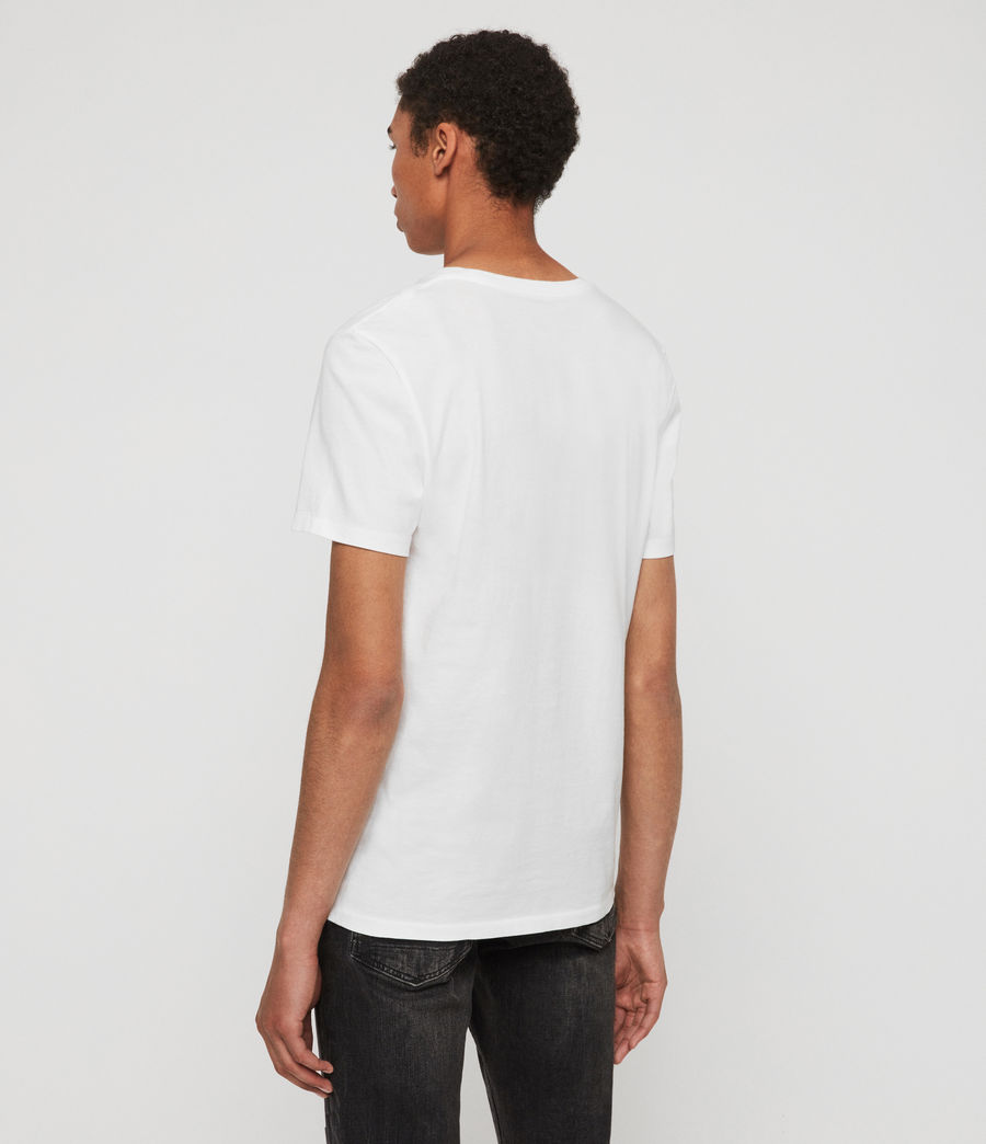 Uomo T-shirt Cooper - Slim in cotone con logo (washed_black) - Image 5