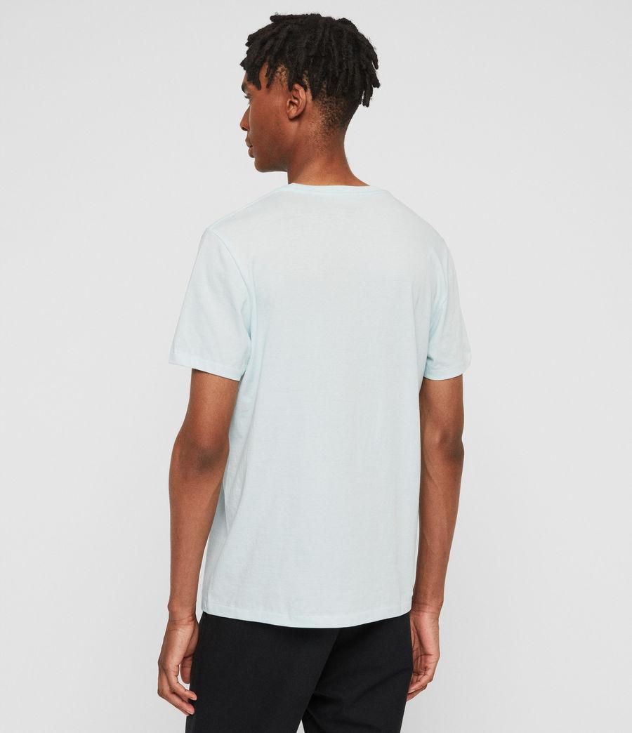 Hombres Camiseta Cooper (aqua_blue) - Image 4