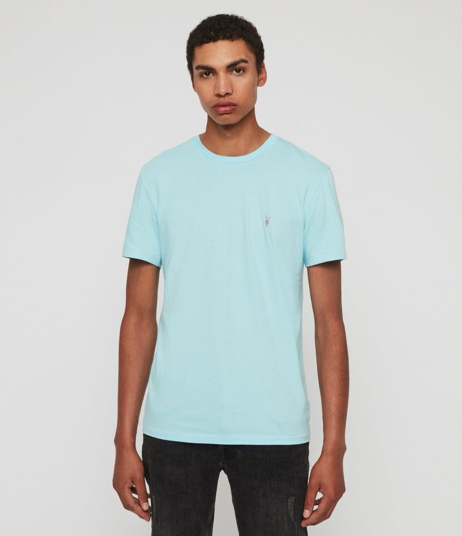 Mens Cooper Crew T-Shirt (hawaii_blue) - Image 1