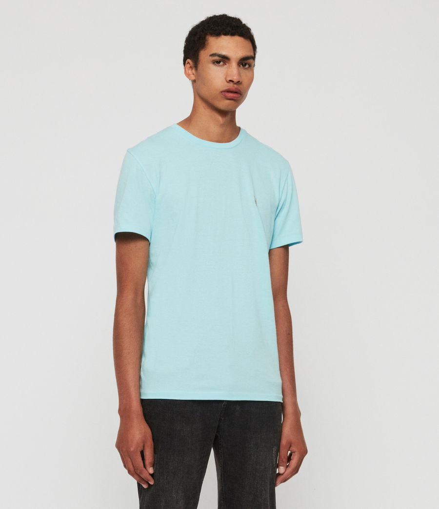 Mens Cooper Crew T-Shirt (hawaii_blue) - Image 2