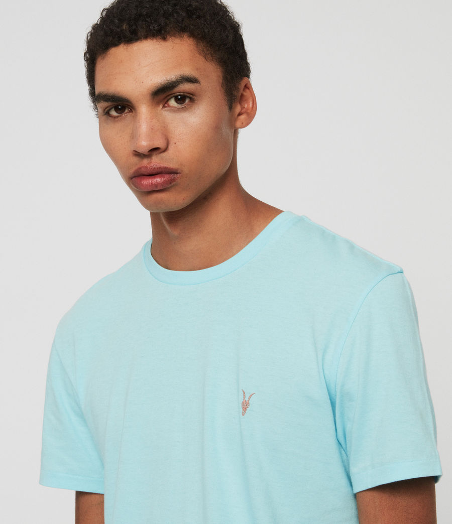 Mens Cooper Crew T-Shirt (hawaii_blue) - Image 4