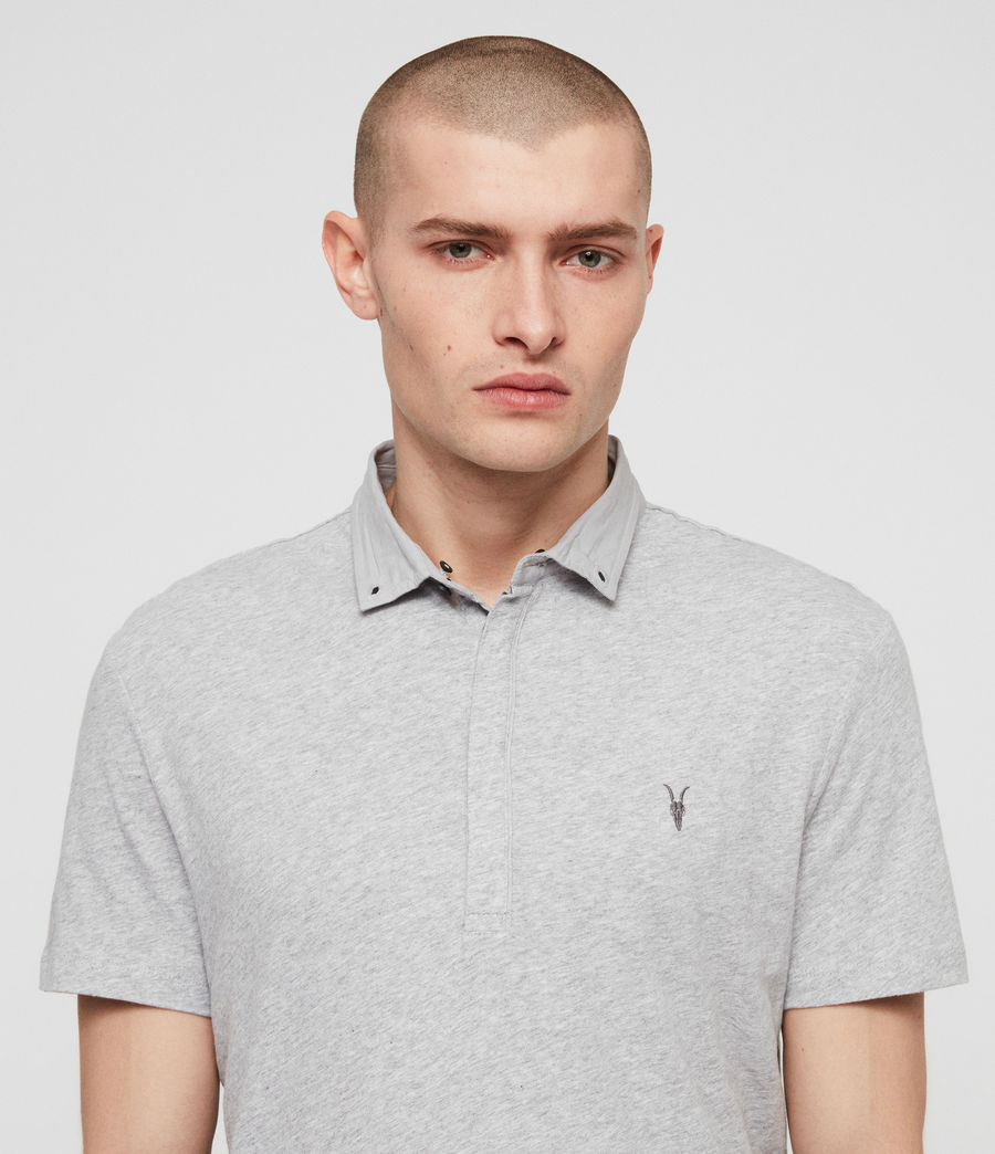 Mens Grail Short Sleeve Polo Shirt (grey_marl) - Image 2