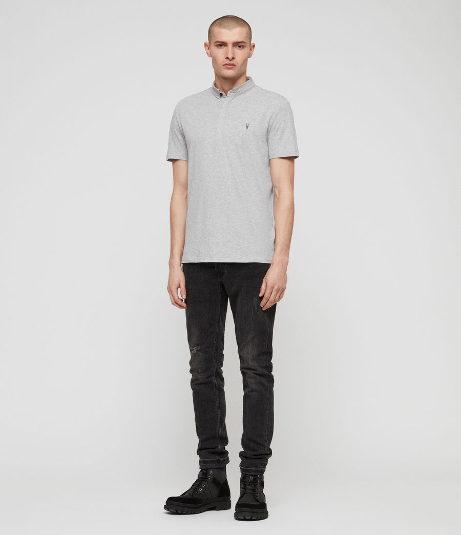 Mens Grail Short Sleeve Polo Shirt (grey_marl) - Image 3