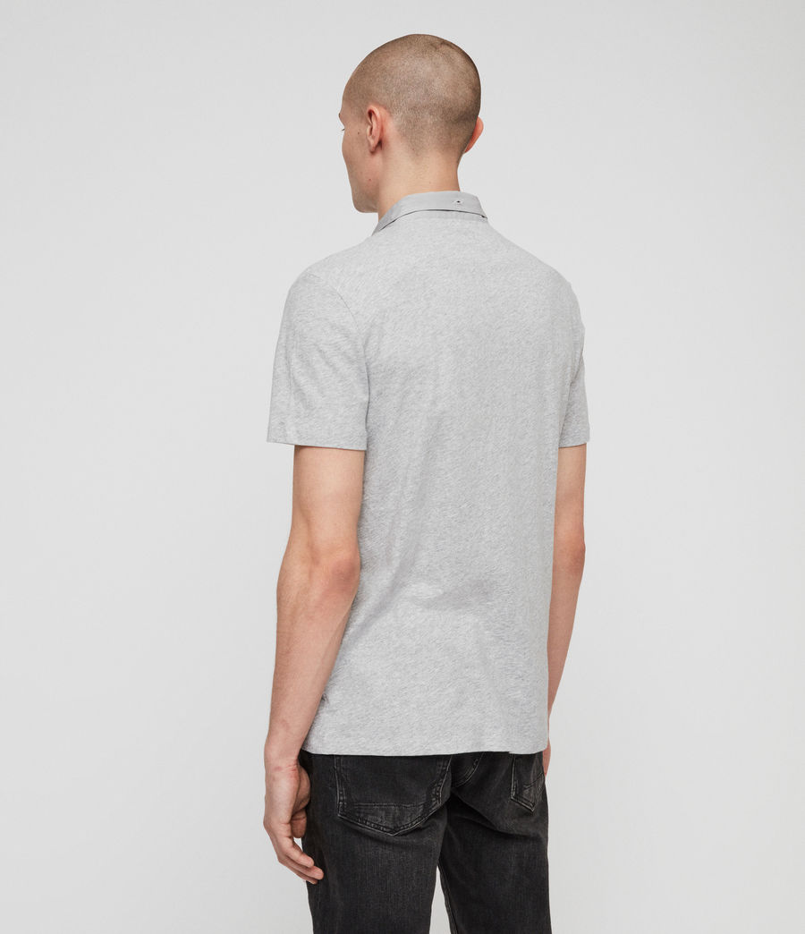 Mens Grail Short Sleeve Polo Shirt (grey_marl) - Image 4
