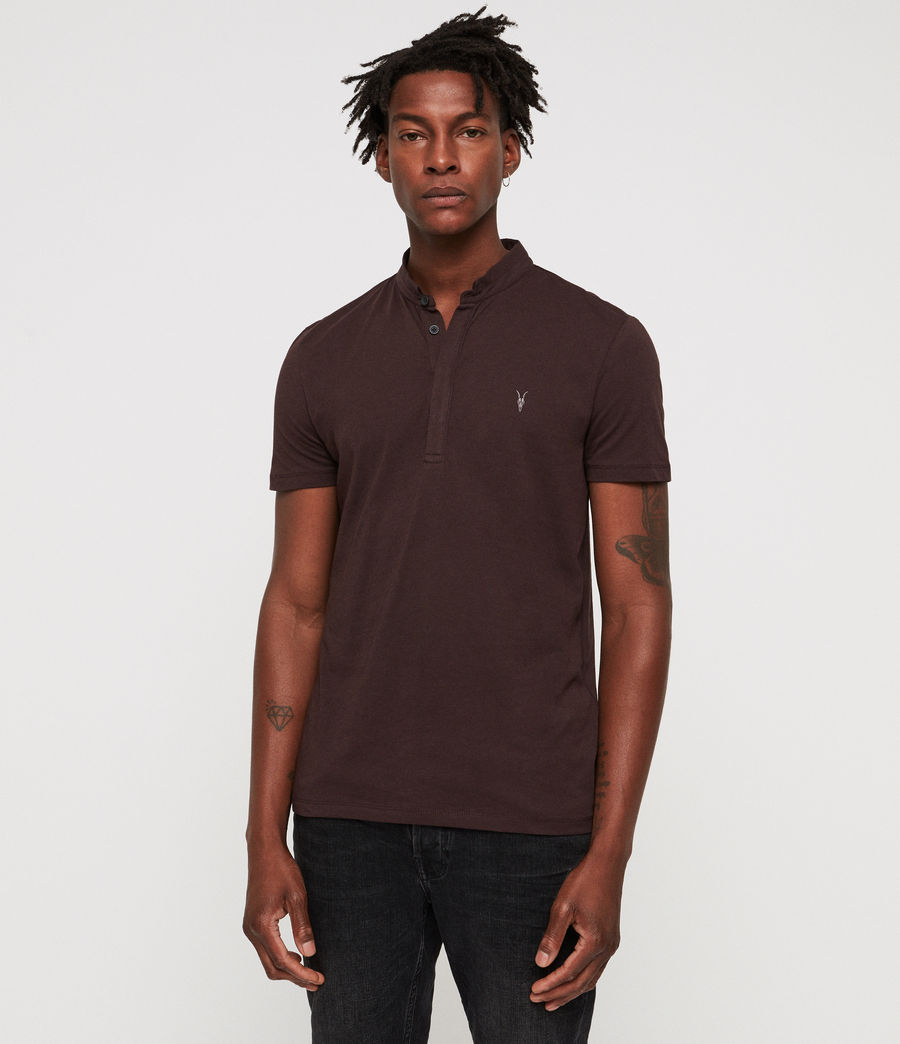 Men's Grail Polo Shirt (oxblood_red) - Image 1