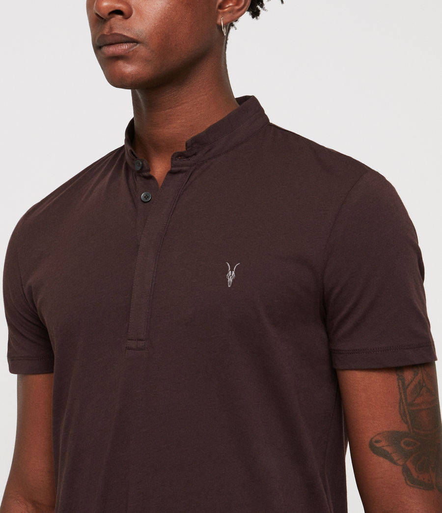 Men's Grail Polo Shirt (oxblood_red) - Image 2