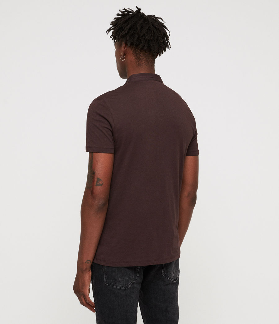 Men's Grail Polo Shirt (oxblood_red) - Image 4