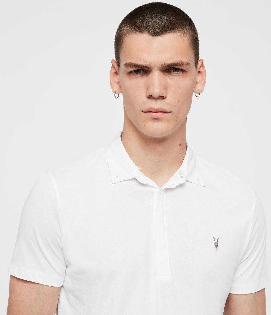 Men's Grail Polo Shirt (optic_white) - Image 2