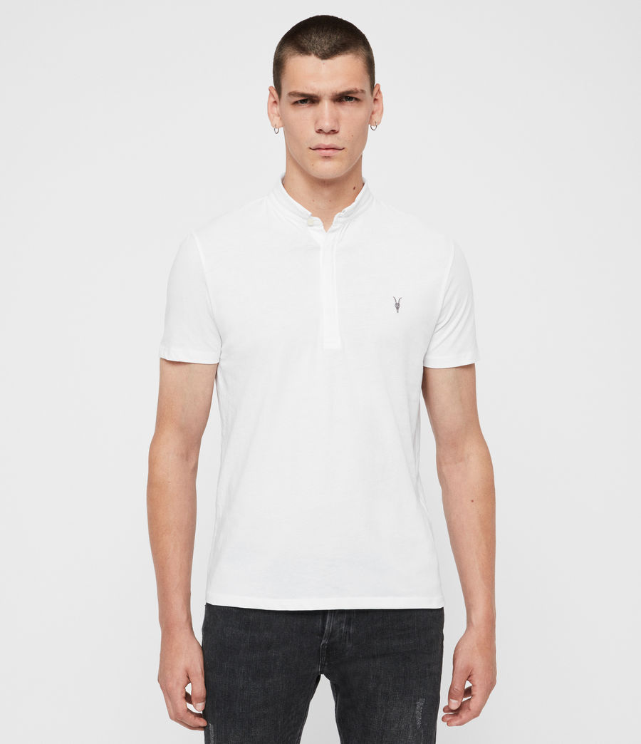 Mens Grail Short Sleeve Polo Shirt (optic_white) - Image 4