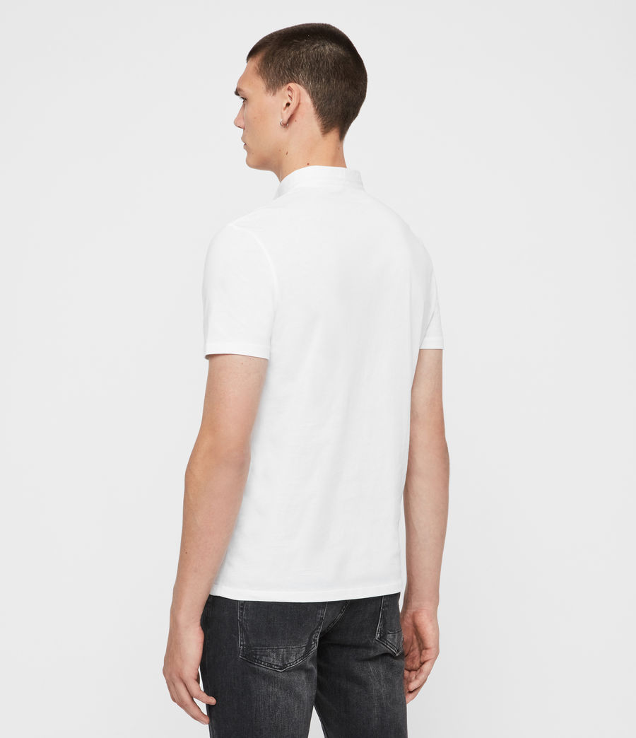 Mens Grail Short Sleeve Polo Shirt (optic_white) - Image 5