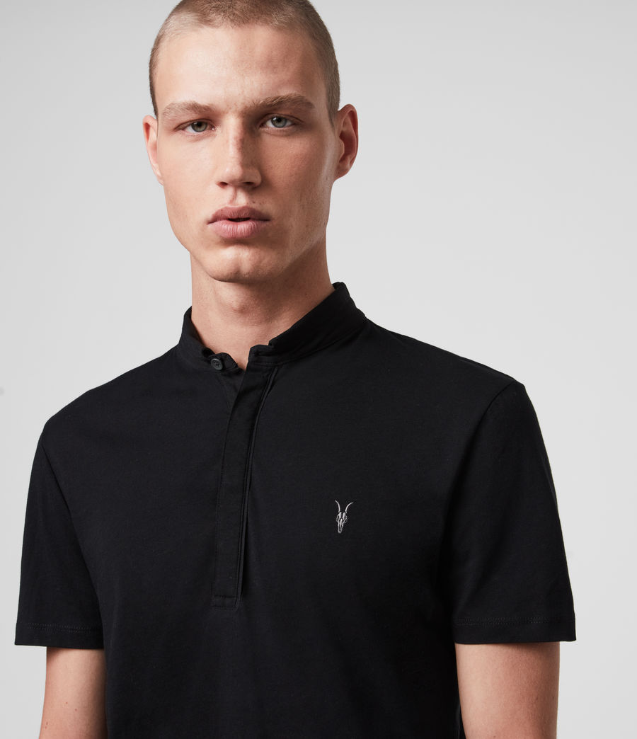 Mens Grail Polo Shirt (jet_black) - Image 2
