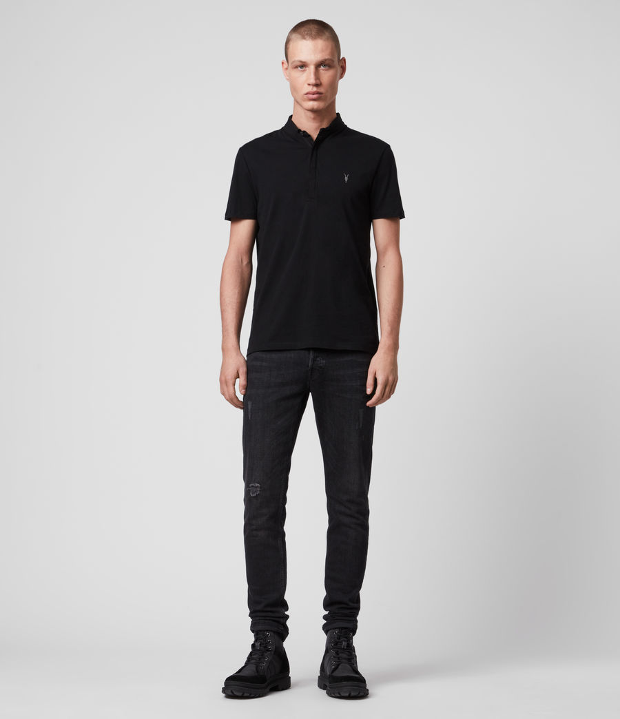 Mens Grail Polo Shirt (jet_black) - Image 3