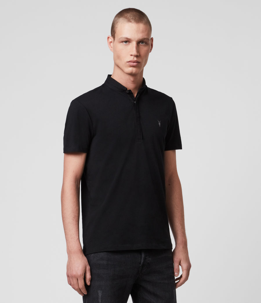 Men's Grail Short Sleeve Polo Shirt (jet_black) - Image 4