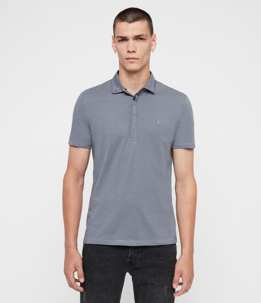 Men's Grail Short Sleeve Polo Shirt (ash_blue) - Image 1