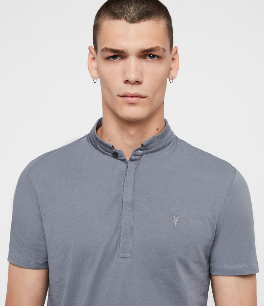 Men's Grail Short Sleeve Polo Shirt (ash_blue) - Image 2