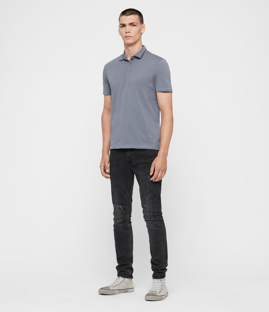 Men's Grail Short Sleeve Polo Shirt (ash_blue) - Image 3