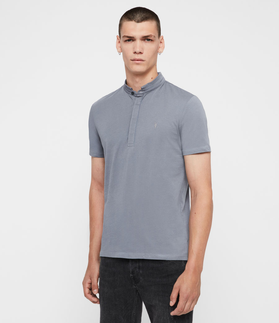 Men's Grail Polo Shirt (ash_blue) - Image 4