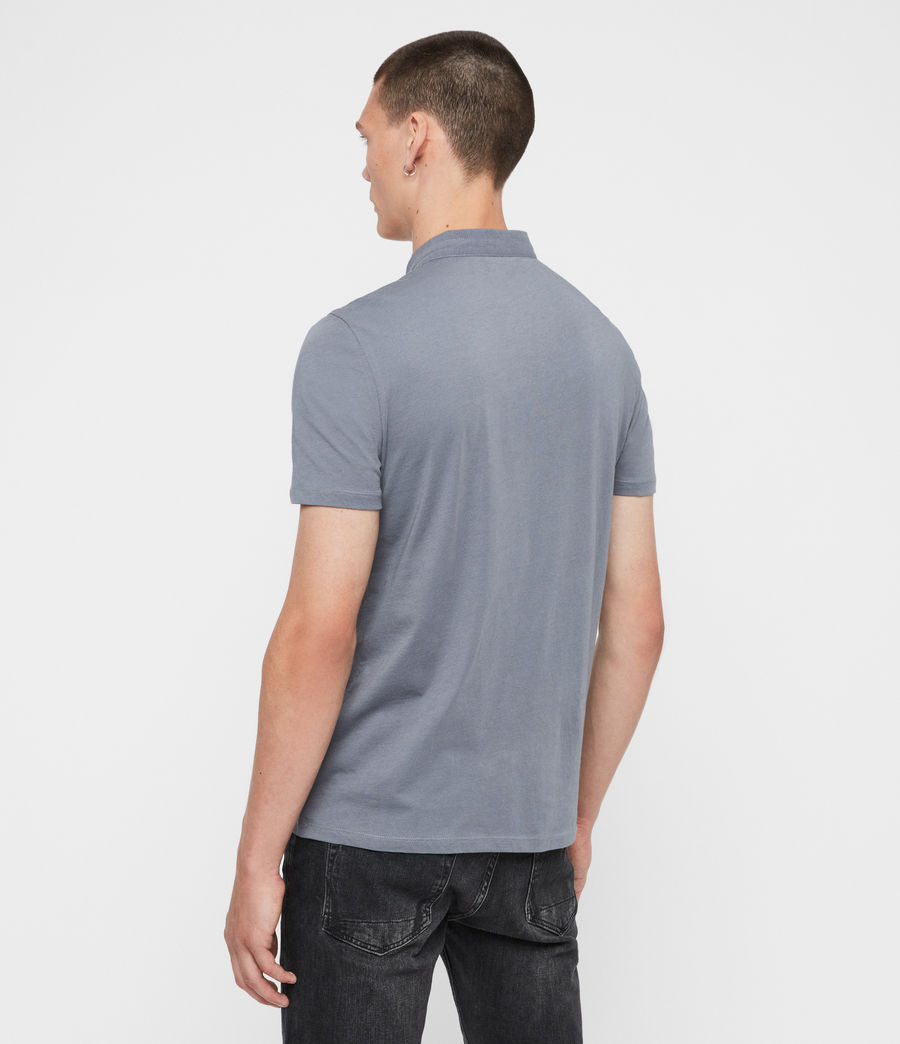 Men's Grail Short Sleeve Polo Shirt (ash_blue) - Image 5