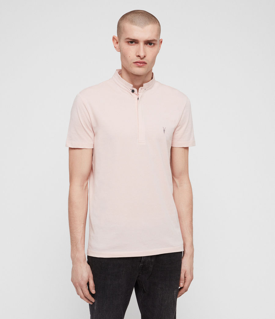 Men's Grail Polo Shirt (bleach_pink) - Image 1