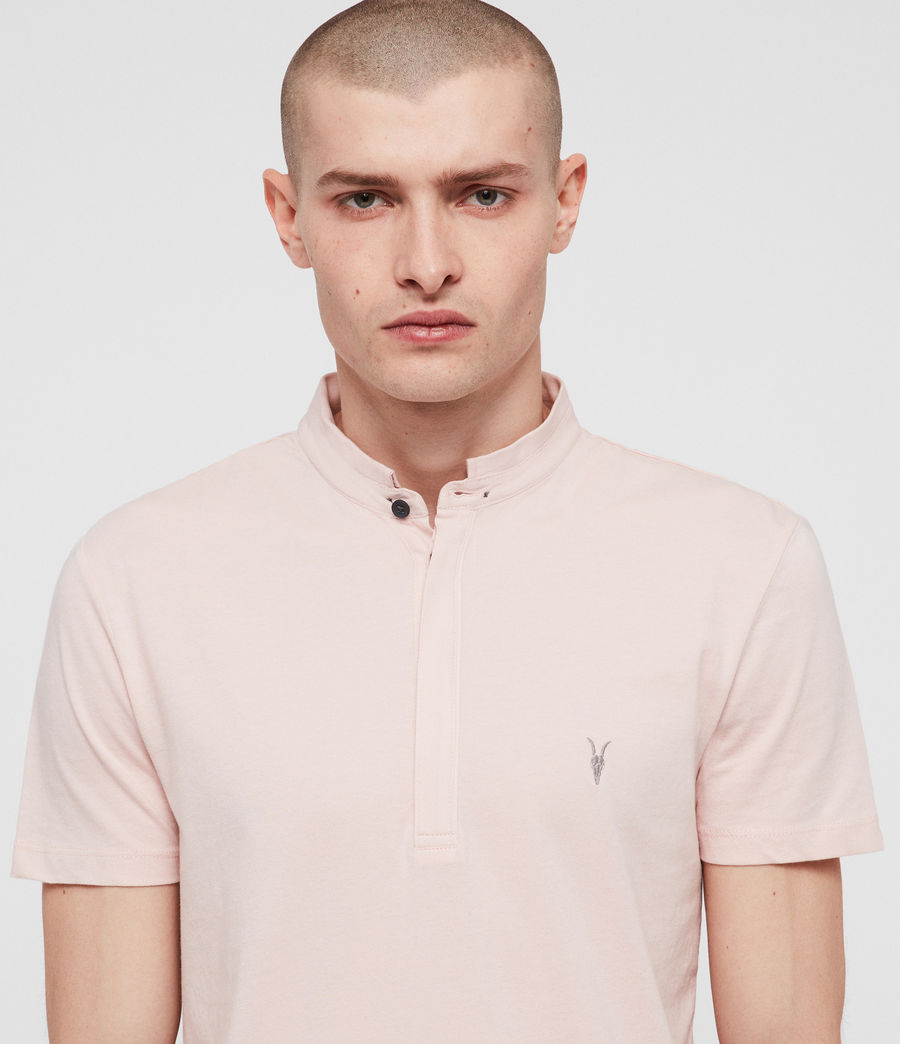 Mens Grail Polo Shirt (bleach_pink) - Image 2