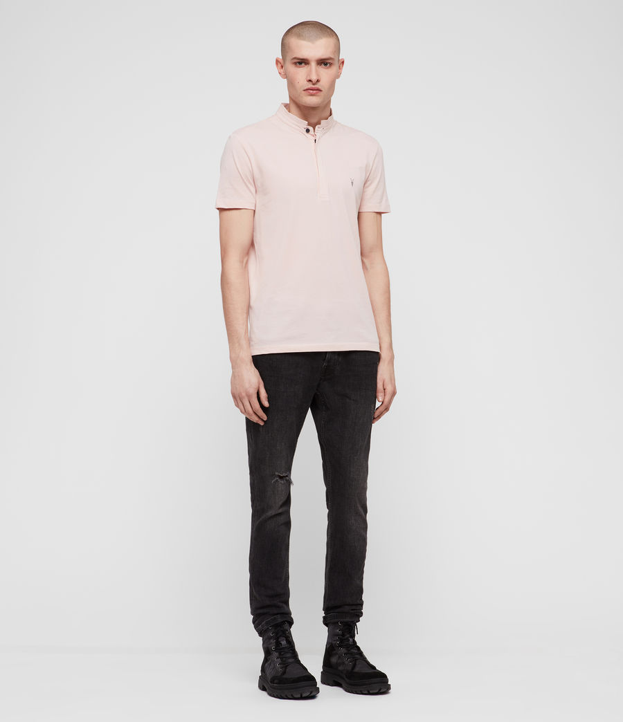 Mens Grail Polo Shirt (bleach_pink) - Image 3