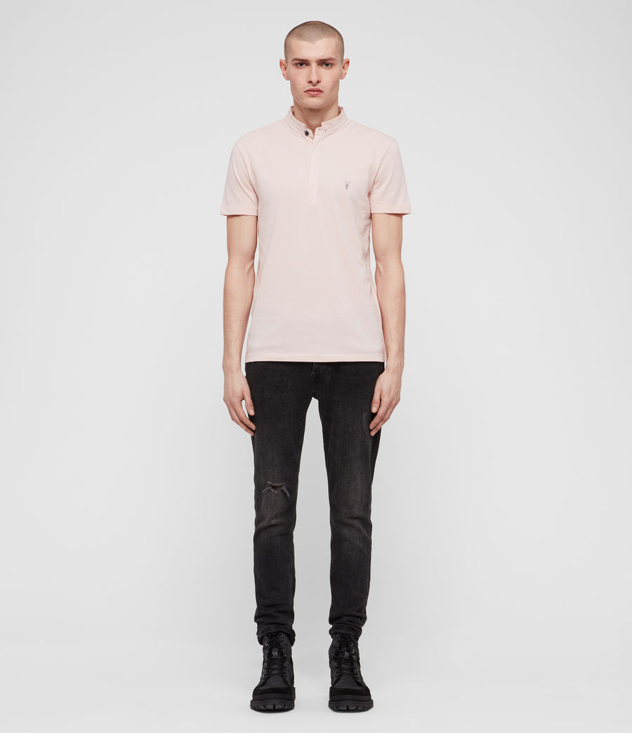 Mens Grail Polo Shirt (bleach_pink) - Image 4