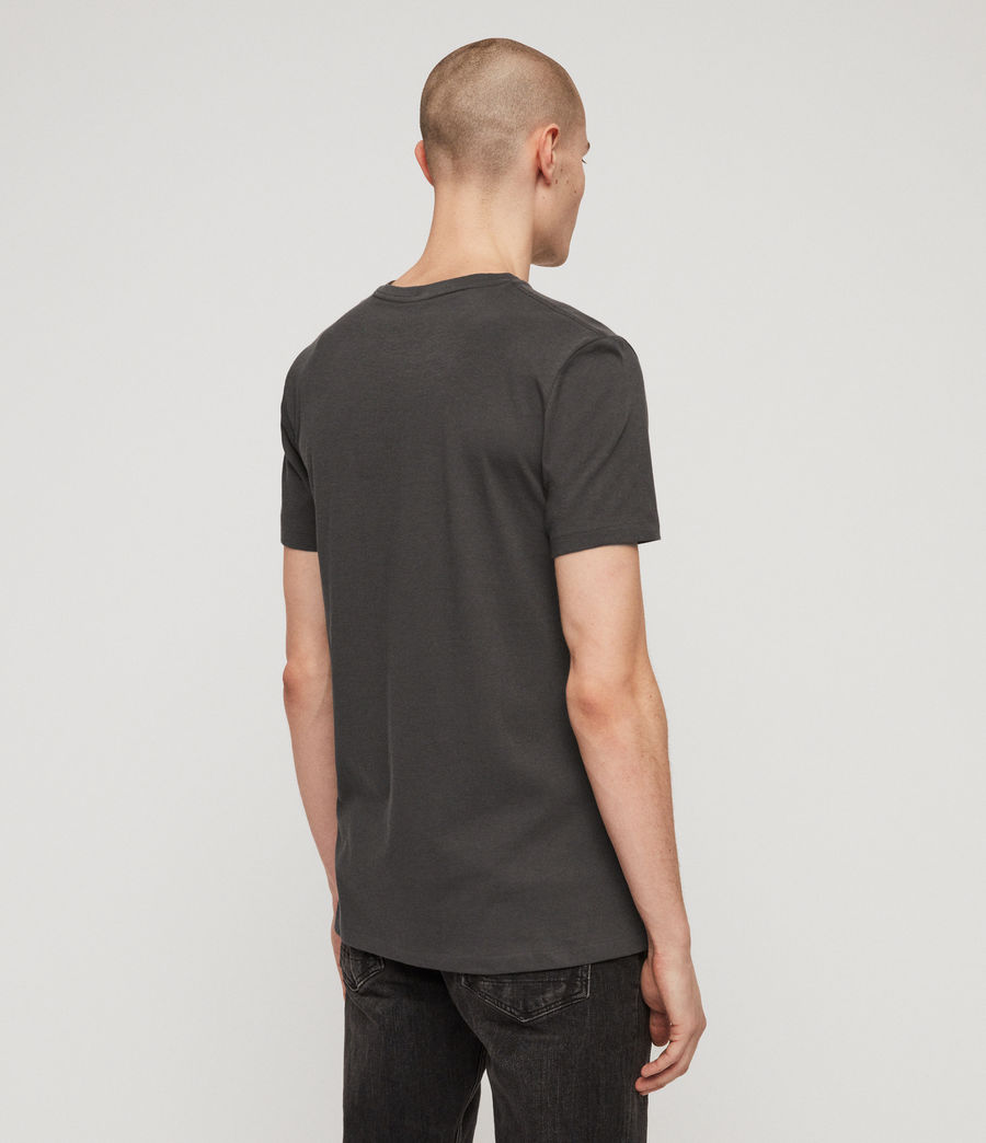 Mens Cooper V Neck T-Shirt (washed_black) - Image 5