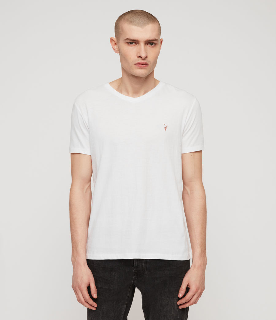 Men's Cooper V-Neck T-Shirt (optic_white) - Image 1
