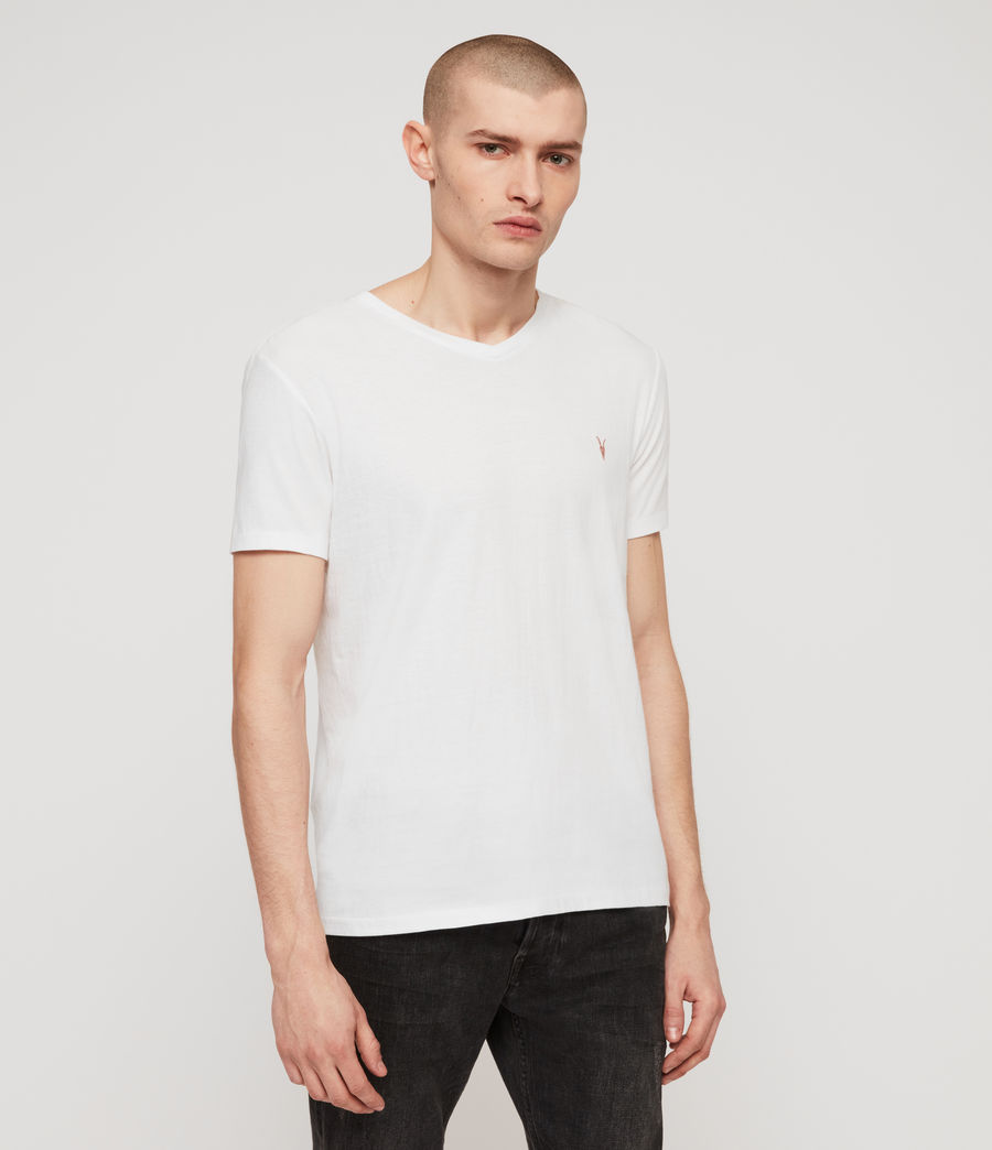 Men's Cooper V-Neck T-Shirt (optic_white) - Image 5